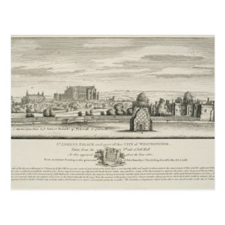 セントジェームズのWestmin市の宮殿そして部品 ポストカード