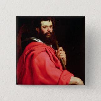 セントジェームズ使徒、c.1612-13 (パネルの油) 5.1cm 正方形バッジ