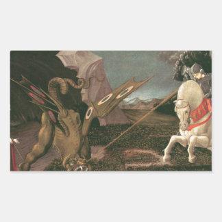 セントジョージおよびドラゴン; パオロ・ウッチェロ; c.1460 長方形シール
