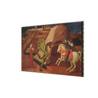 セントジョージおよびドラゴン、c.1439-40 キャンバスプリント