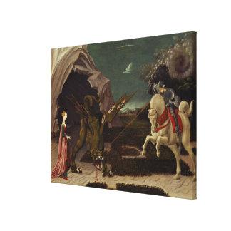 セントジョージおよびドラゴン、c.1470 キャンバスプリント
