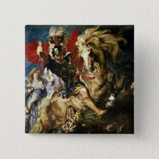 セントジョージおよびドラゴン、c.1606 5.1cm 正方形バッジ