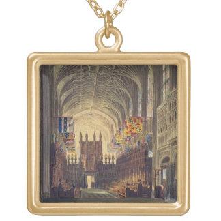 セントジョージのチャペル、Windsorの城、fのインテリア ゴールドプレートネックレス