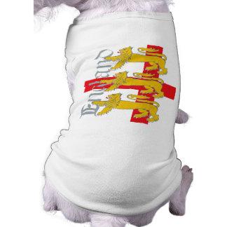 セントジョージの十字の3頭のライオン ペット服