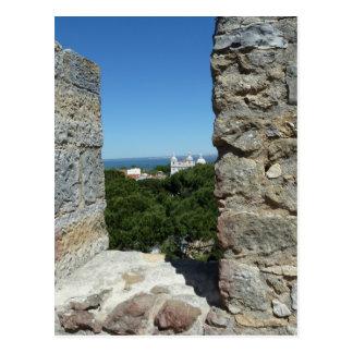 セントジョージの城の挨拶状(リスボン、ポルトガル) ポストカード