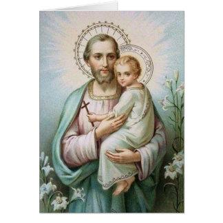 セントジョーゼフの子供のイエス・キリストユリの十字 カード