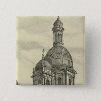 セントジョーゼフの教会 5.1CM 正方形バッジ