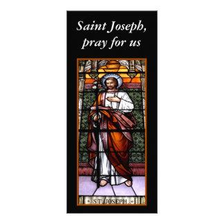 セントジョーゼフは私達のために-ステンドグラス窓を祈ります ラックカード