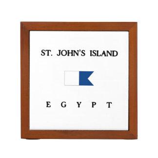 セントジョーンズの島のエジプトのアルファ飛び込みの旗 ペンスタンド