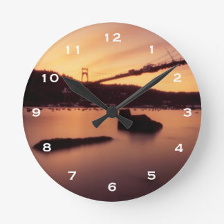 セントジョーンズ橋日没 ラウンド壁時計