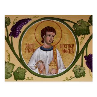 セントスチーブンProtomartyrの祈りの言葉カード ポストカード