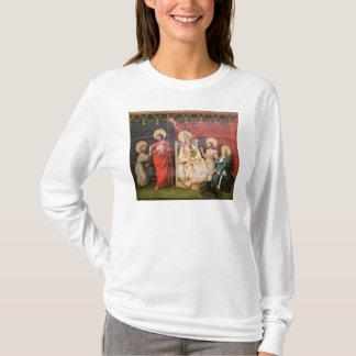 セントトーマスを持つキリストを描写する祭壇の背後の飾り Tシャツ