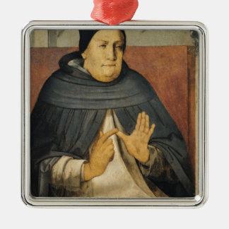 セントトーマスアクィナスc.1475のポートレート メタルオーナメント