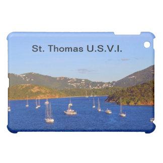 セントトーマス港のヨット iPad MINIケース
