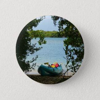 セントトーマス米国バージン諸島でカヤックを漕ぐこと 缶バッジ