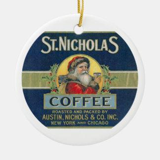 セントニコラスのコーヒー セラミックオーナメント