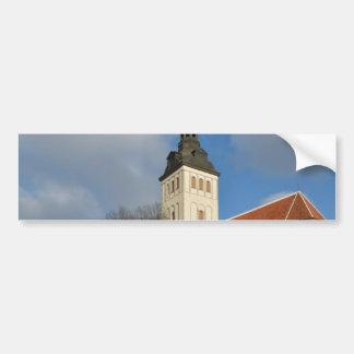 セントニコラスの教会、タリン、エストニア バンパーステッカー