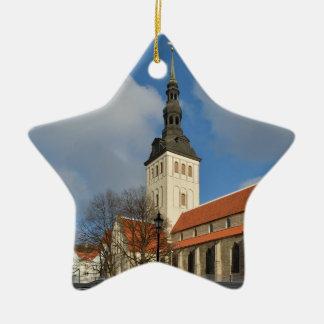 セントニコラスの教会、タリン、エストニア 陶器製星型オーナメント