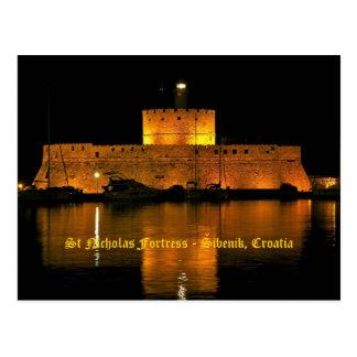 セントニコラスの要塞- Šibenik、クロアチア ポストカード