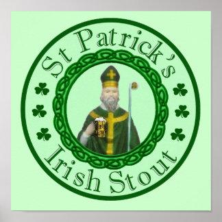 セントパトリックのアイルランドのスタウト ポスター