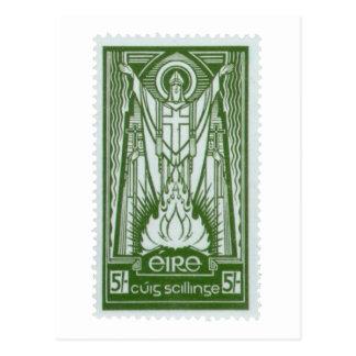 セントパトリックのアイルランドの切手 ポストカード