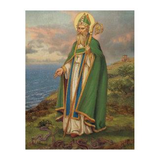 セントパトリックのアイルランドの守護聖人 ウッドウォールアート