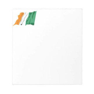 セントパトリックのアイルランドの旗のメモ帳 ノートパッド