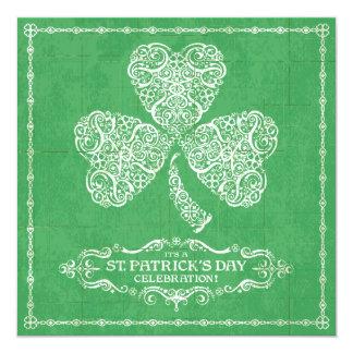 セントパトリックの日のお祝いの招待状 カード