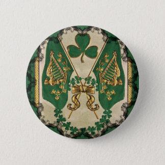 セントパトリックの日のアイルランド人ボタン 5.7CM 丸型バッジ