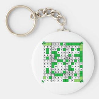 セントパトリックの日のオリジナルのクロスワードパズルとのKeychain キーホルダー