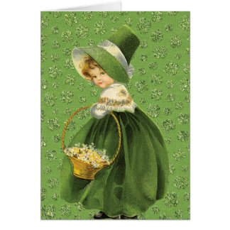 セントパトリックの日のクローバーの葉の挨拶状 カード