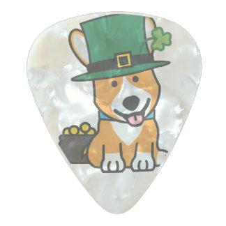 セントパトリックの日のコーギーの小妖精犬の子犬の小犬 パールセルロイド ギターピック