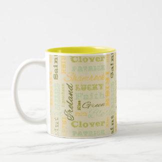 セントパトリックの日のコーヒー・マグ ツートーンマグカップ