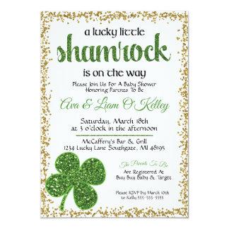 セントパトリックの日のシャムロックのベビーシャワーの招待状 カード