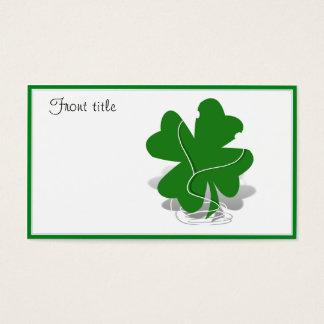 セントパトリックの日のシャムロック-アイルランドのクローバー 名刺