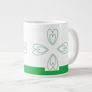セントパトリックの日のジェニファーShao著ジャンボマグの芸術 ジャンボコーヒーマグカップ