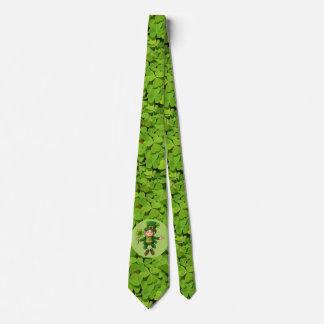 セントパトリックの日のタイの小妖精のシャムロックの緑 ネクタイ