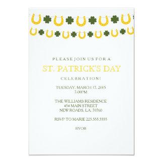 セントパトリックの日のパーティの招待状 カード