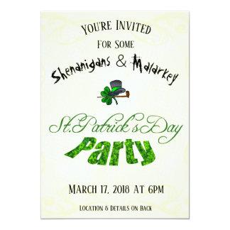 セントパトリックの日のパーティの招待状- カード