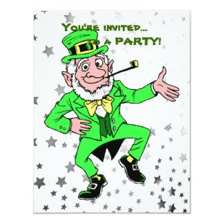 セントパトリックの日のパーティー|のかわいい小妖精の踊り カード