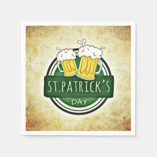 セントパトリックの日のビールのジョッキ スタンダードカクテルナプキン