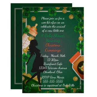 セントパトリックの日のベビーシャワーの招待状 カード