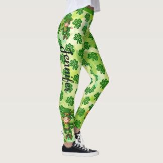 セントパトリックの日のレギンスはあなたの一流のズボンを緑化します レギンス