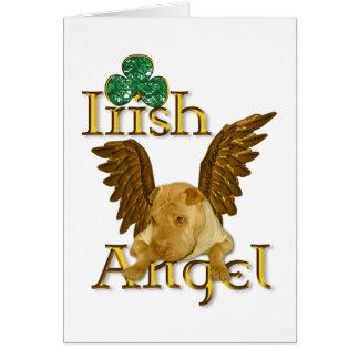 セントパトリックの日の中国人のShar Pei犬のアイルランド人の天使 カード