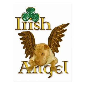 セントパトリックの日の中国人のShar Pei犬のアイルランド人の天使 ポストカード