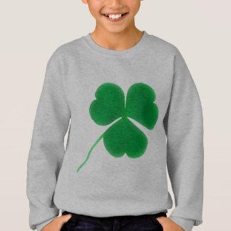 セントパトリックの日の子供へのアイルランドの緑のクローバー スウェットシャツ