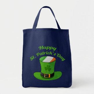 セントパトリックの日の小妖精の帽子及びシャムロックのクローバー トートバッグ