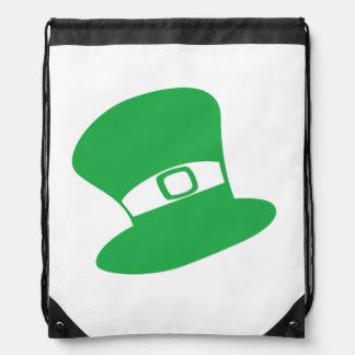 セントパトリックの日の帽子のドローストリングのバックパック ナップサック