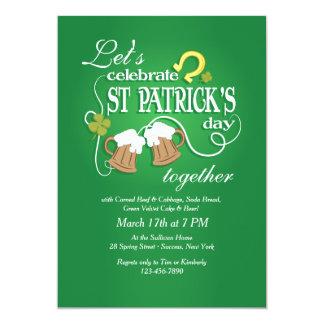 セントパトリックの日の招待状を祝って下さい カード