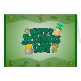 セントパトリックの日の挨拶状 カード